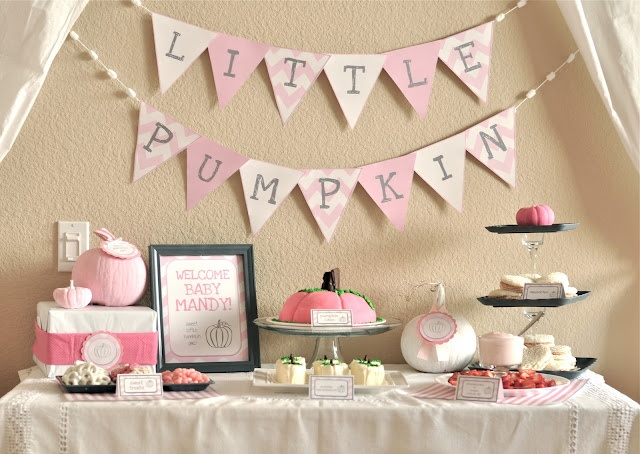 "would be so cute for an October baby shower ""little Pumpkin"""