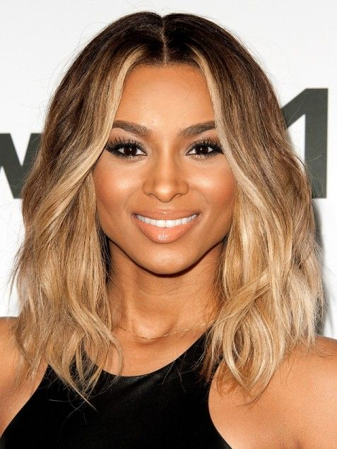 Ciara�s standout honey blonde highlights brighten up her beachy, textured bob. Description from pinterest.com. I searched for this on bing.com/images