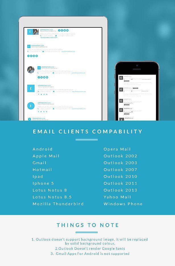 Responsive Email Signature Builder #bundle#email#signature