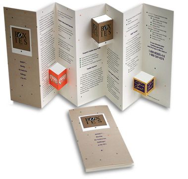 **www.mahdesigninc.com Boxies A capabilities brochure featuring a unique three-dimensional die-cut design targeted to prospective franchisees