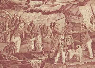 The Slave Trade Toile. Civil War Quilts