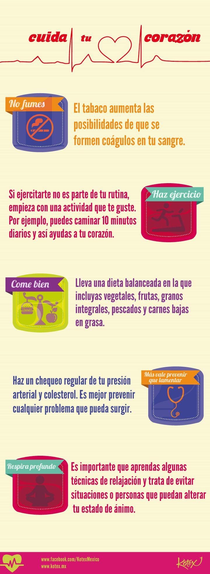 Cuida tu #corazón #infografia #salud