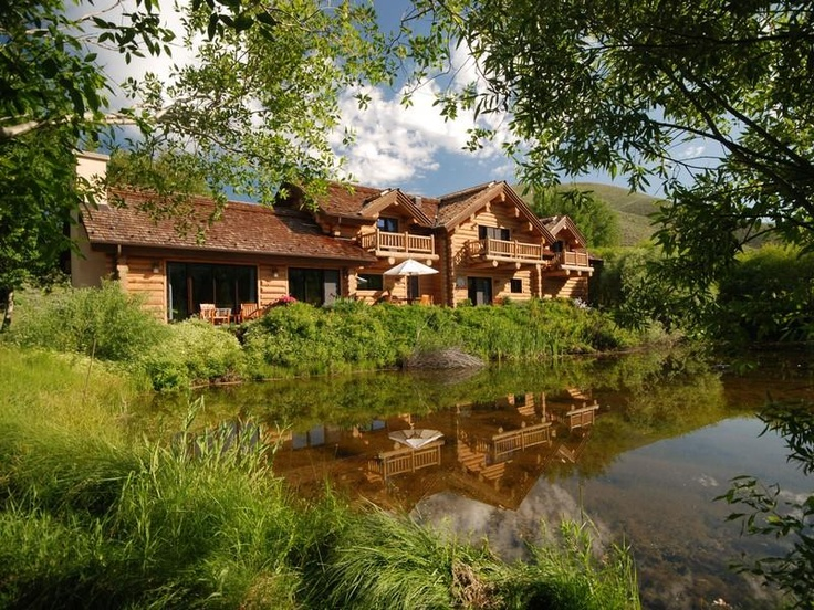 Lodge Style Log Home