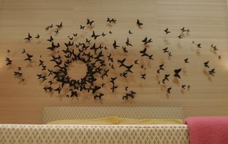 Paul Villinski Installation -- Wall decor in Serena's bedroom... I love the butterflies ❤