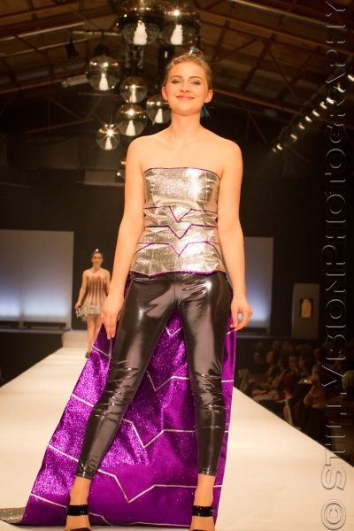 My entry for the 2013 hokonui fashion awards 'silver category' The inspiration for this garment was the cybermen from doctor who