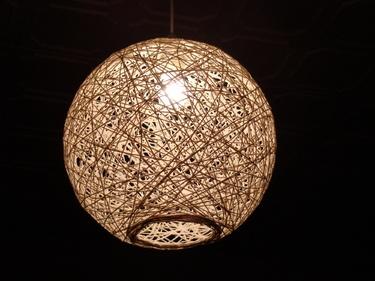 lampa ze sznurka,abażur ze sznurka