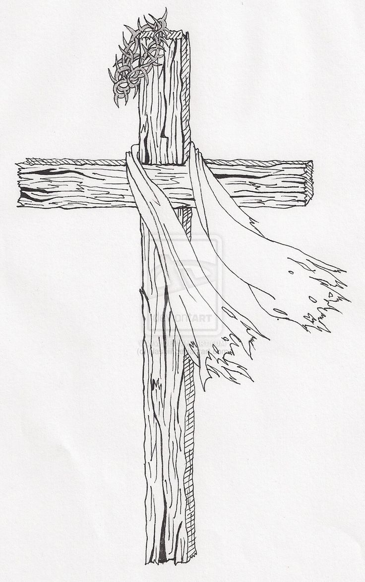 wooden cross drawing - Google Search