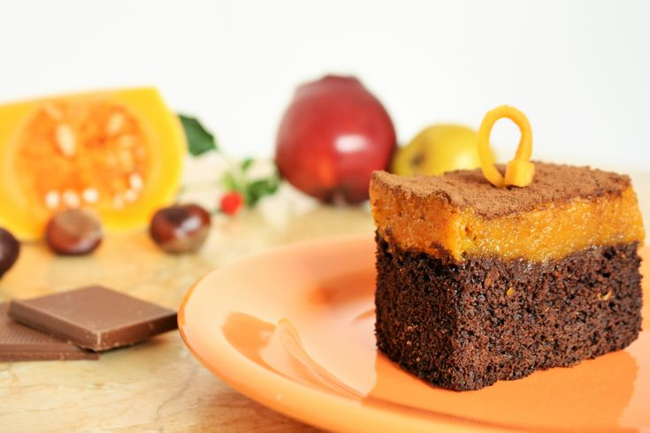 Let's enjoy autumn! A combination between chocolate, my love, and butternut squash!