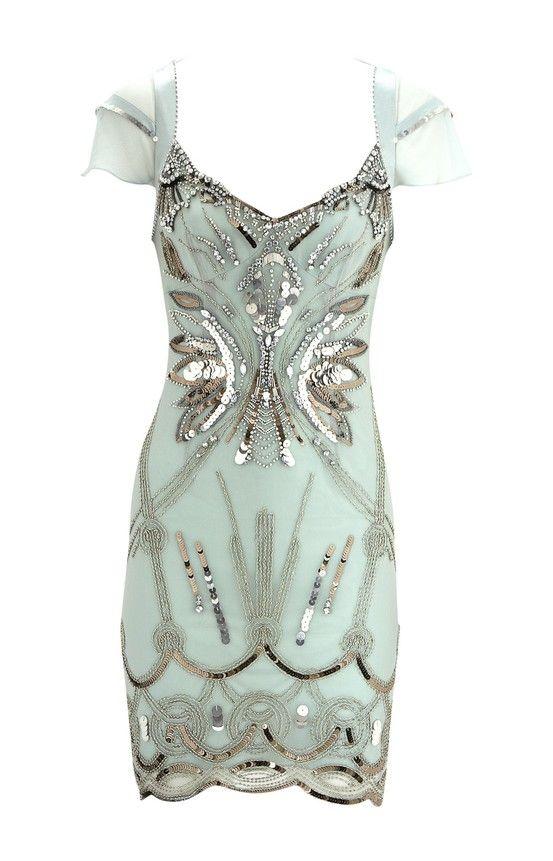 love: Flappers Dresses, Cocktails Dresses, Mint Green, Karen O'Neil, Karen Millen, Art Deco, Rehear Dinners, Spring Style, Diamant Dresses