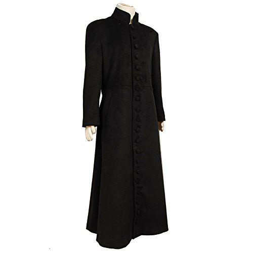 Mens black wool dress coat