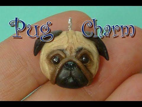 Pug face polymer clay charm tutorial