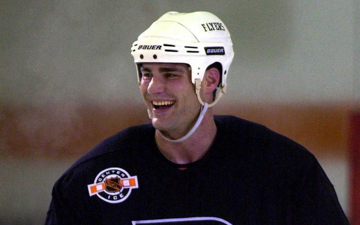 Eric Lindros | ... eric lindros smiles during practice in voorhees n j