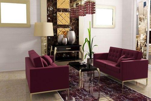 Картинки по запросу бордовый диван в гостинной