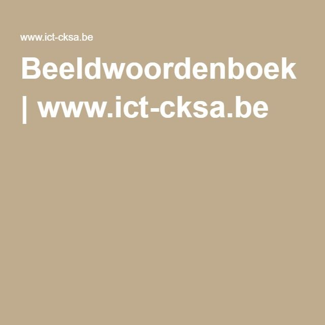 Beeldwoordenboek | www.ict-cksa.be