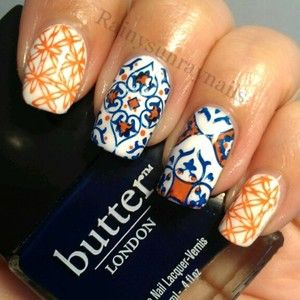 Best 25 bohemian nails ideas on pinterest tribal nail designs bohemian nails by kristin day holy smokes i love these nails prinsesfo Gallery