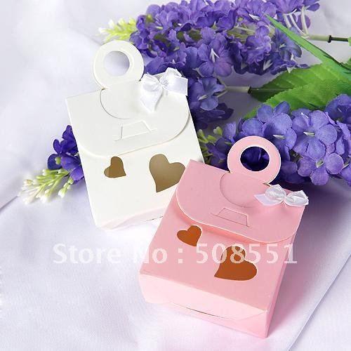 Сумочка Формы Бумажные Окна Сердце Свадебные Сувениры Конфеты Коробки Упаковки Для Шоколада Коробка 12 шт.