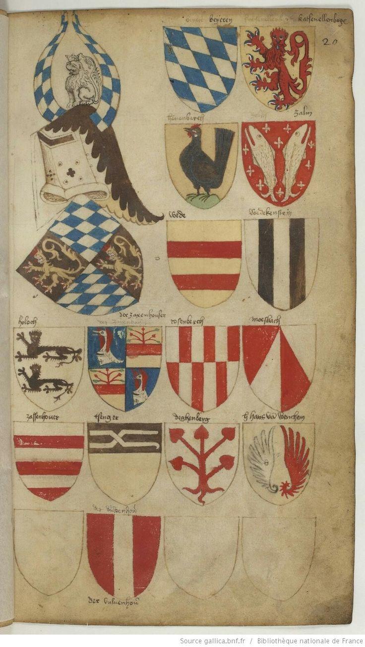 Wappen : Bayerischer Adelsgeschlecht / Coats of Arms of The Bavarian Nobility / Escudos de Armas de la Nobleza de Bavière