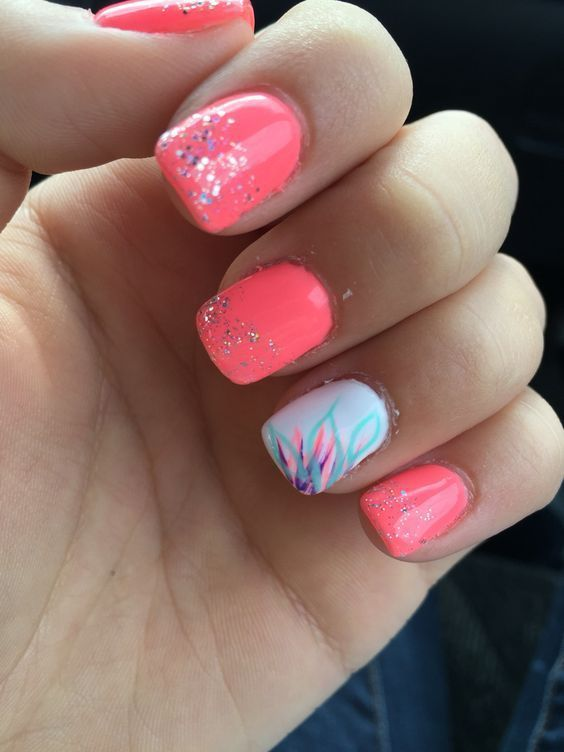 10 Spring Nail Designs für kurze Nägel – #Designs # nägeldesignsnatur #Nail #Nai … – Nagel Design
