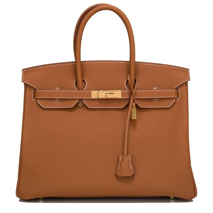 Hermes Birkin Bag 35 Gold Togo Gold Hardware #hermes