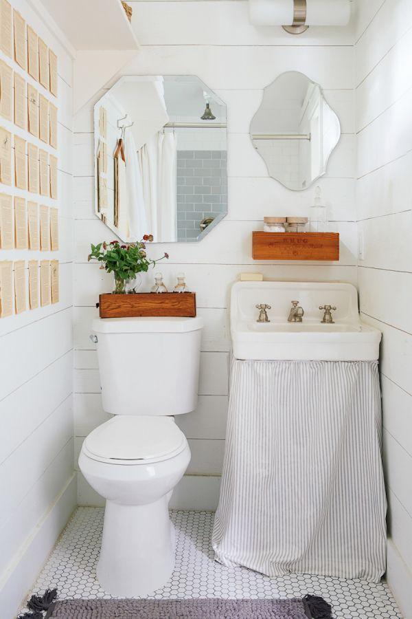 Images Photos All white bathroom decor http stylemepretty living