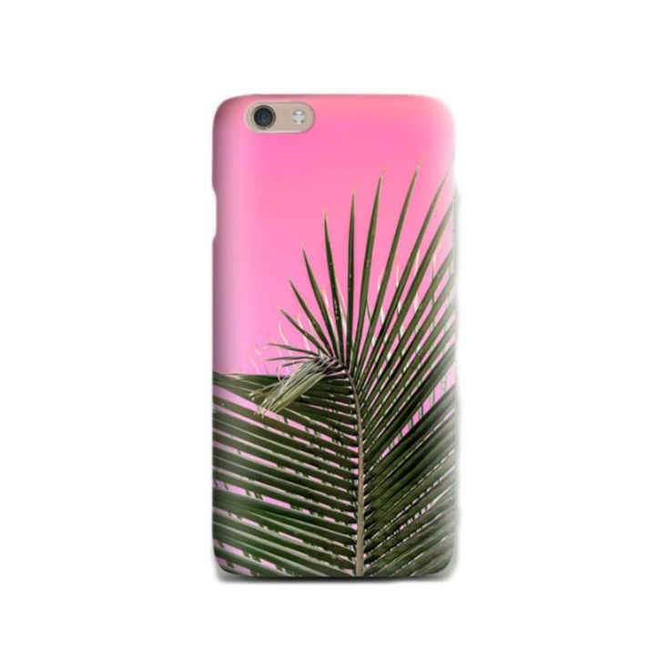 Palm leaf iPhone 6 case Tropical Pink iPhone 6 case Soft silicone Phone case iPhone case Gift for her iPhone 5 case Trendy Birthday gift by LightBlueCases on Etsy