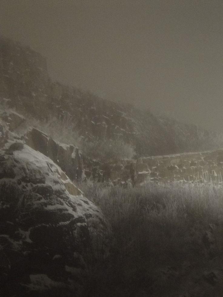 Fredriksten festning, Halden Winter and magical eveningtime