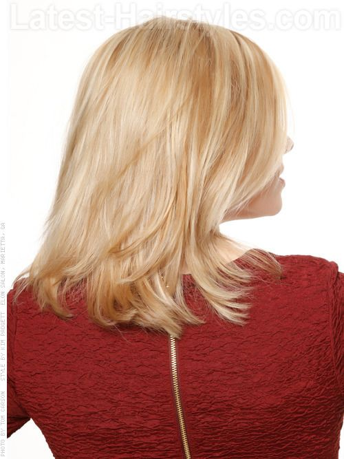 Color Dimension Straight Blonde Medium Style Side View