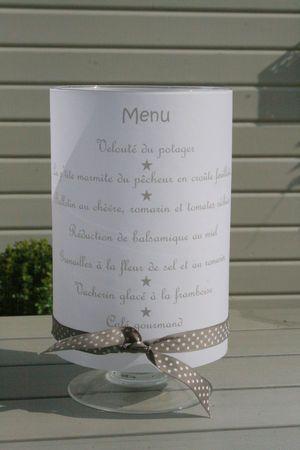 Presentación de menú en papel de calco