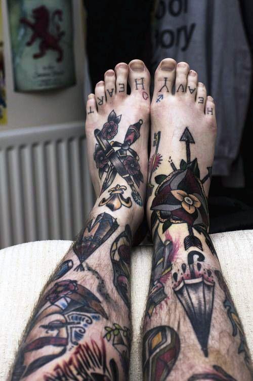 Tattoos On Leg