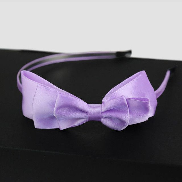 Whosale Fashion 2016 Multicolor Girl Lady Bowknot Ribbon Hair Accessories Headband Bow Head Band Clip Hairbwear Hair Decor A1