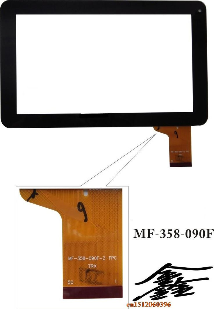 Touch screen: ZHC-98V YTG-P90002-F1