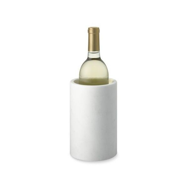 Williams-Sonoma Marble Wine Chiller ($60) ❤ liked on Polyvore featuring home, kitchen & dining, bar tools, marble wine chiller, wine-bucket, wine ice bucket, marble ice bucket and wine bucket