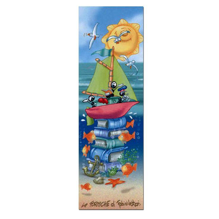 Segnalibro in carta FV01-03 | Le Formiche di Fabio Vettori #segnalibro #book #libro #formiche #gift #leggere #mare #barca #fantasia #estate