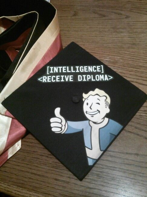My Husband S Grad Cap Fallout Pinterest Grad Hat
