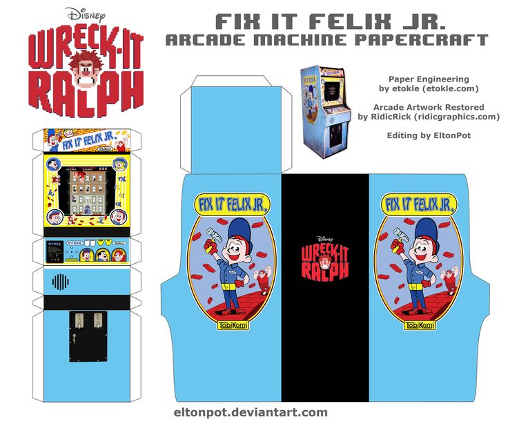 Fix It Felix Jr. Arcade Papercraft by eltonpot.deviantart.com on @deviantART