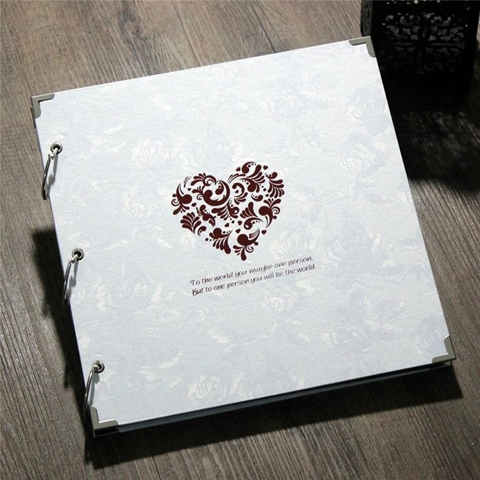 Pure White Big Ring Binder DIY Photo Album Wedding Luxury Family