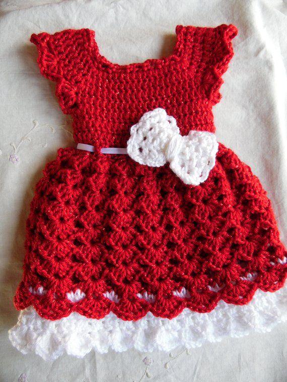 Navidad Bebé Vestido Y Diadema Conjunto Conjunto De Recién