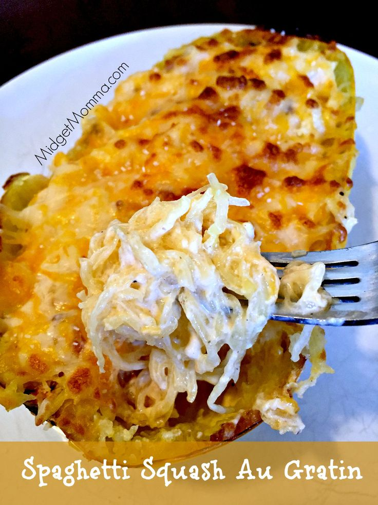 Spaghetti Squash Au Gratin. Easy to make meal that is filled with veggies. Spaghetti Squash Au Gratin is the perfect meal for anytime! No carbs ALL Veggies!