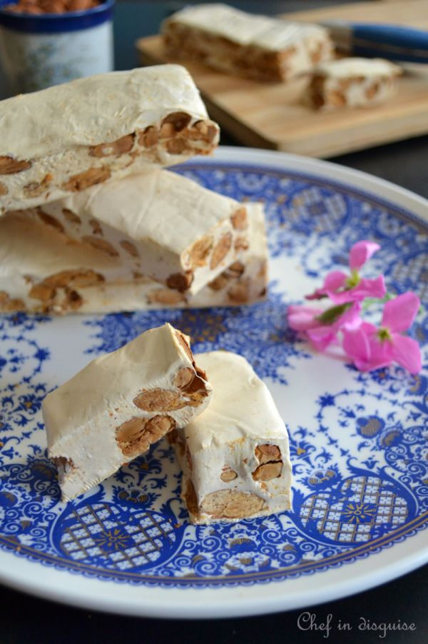 Homemade nougat. It tastes better than the over priced stuff you buy, you can customize the filling and flavors to your liking and of course you can brag about making your own nougat from scratch