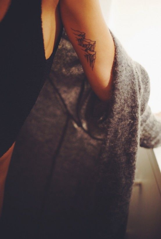 mountain tattoo via Tattoologist