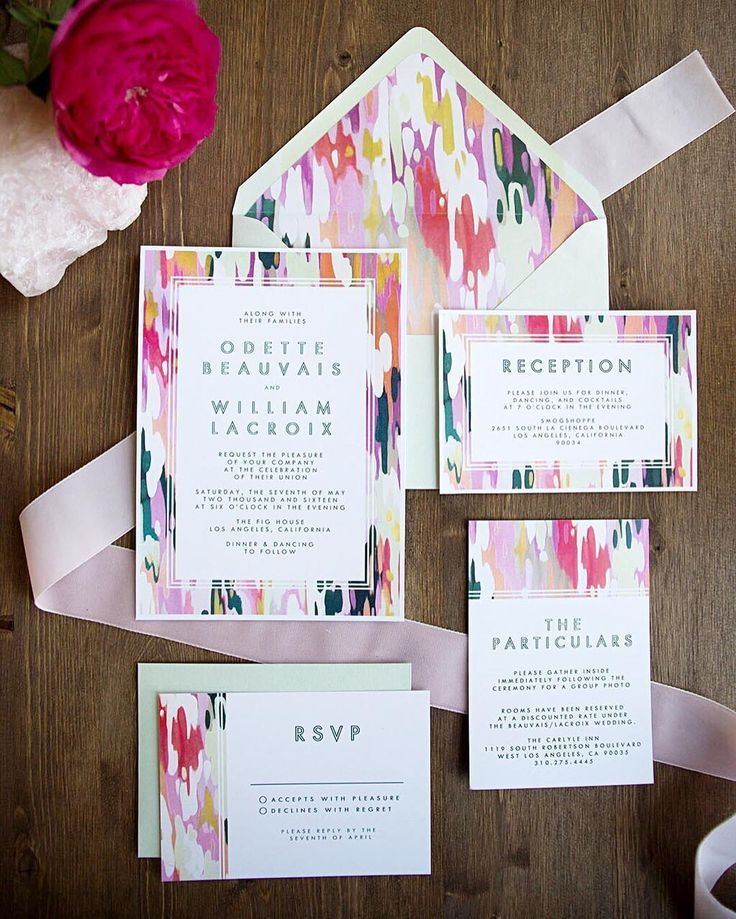 are labels on wedding invitations tacky%0A The colorful  u     modern Odette wedding invitation suite