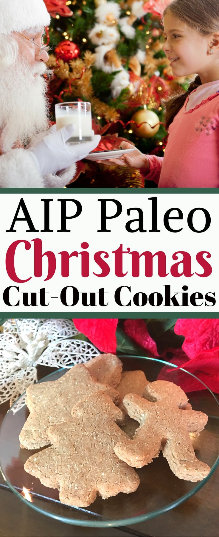 Autoimmune Paleo (AIP) approved Christmas Cut-Out Cookies are a great dessert to serve for family and holiday gatherings this winter, especially when you're unsure of food allergies at your gathering or party. It's a real treat that will be enjoyed by even the pickiest of eaters! This AIP cookie recipe is also Paleo, gluten-free, dairy-free, egg-free, soy-free, and refined sugar-free. via @thearomamamaStephanie @ Aroma Mama | Health & Wellness  | Essential Oils  | Paleo AIP |  Healthy Reviews