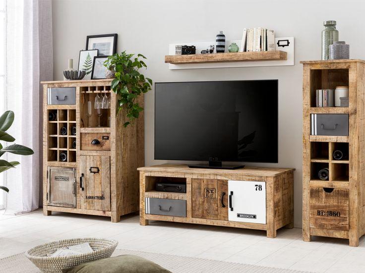 Wohnwände | Sets | MÖBEL | Woodkings Shop   #wohnwand #wohnzimmer #holz #ideen #wohnung