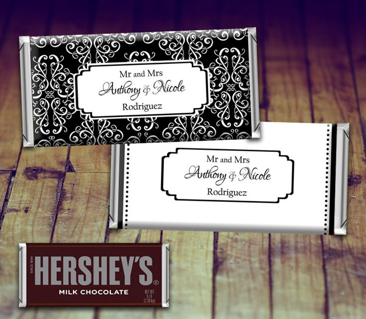 Wedding Candy Wrapper, Full Sized Candy Wrapper Wedding, Black and White Wedding Favor, Black and White Wedding, Personalized Hershey by LittlePrintsOttawa on Etsy