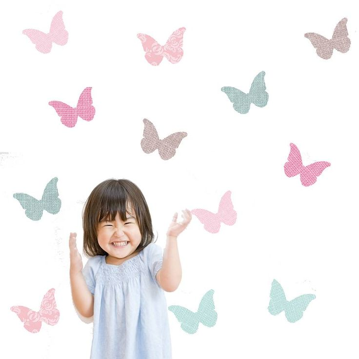 12 Stunning textured butterfly wall stickers.These beautiful butterfly wall stickers create a fantastic focal point in a child's nursery, bedroom or playroom. Produced using premium fabric material, the stickers are easy to apply, literally just peel and stick. The material also ensures that the stickers are durable, repositionable and cause zero damage to wall surfaces. Would make an ideal present.Made from premium fabric material. Eco-friendly, PVC and solvent free.Each butterfly measures…