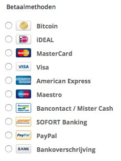 Maar liefst 10 verschillende betaalmethodes bij www.Stuntwinkel.nl