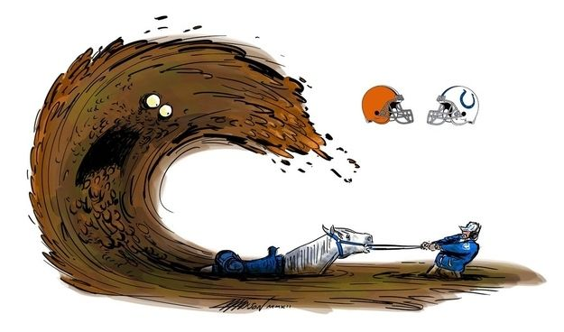 Pixar Animator Recaps The NFL Season In Amazing, Surreal Illustrations