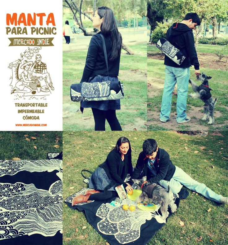 Mercado Indie: manta picnic! lindos los colores!