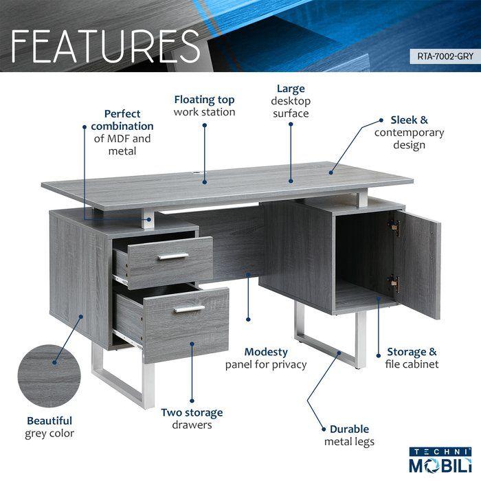 Conlon Desk Modern Office Desk Office Desk Desk