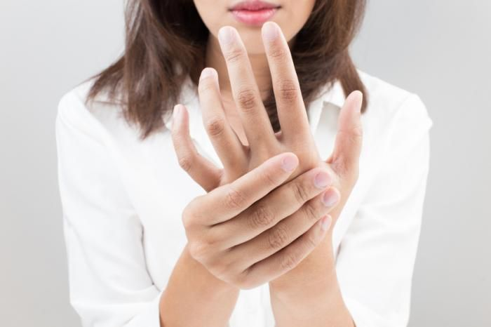 Raynaud's disease causes some areas of the body to feel numb and cool in response to cold temperatures or emotional stress, caused by a problem with the blood supply to the skin.